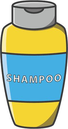shower bath: Shampoo bootle vector cartoon illustration