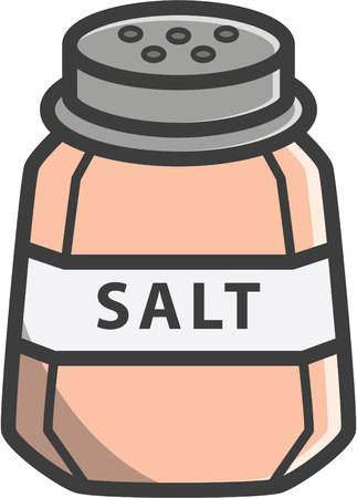 Salt vector cartoon illustration