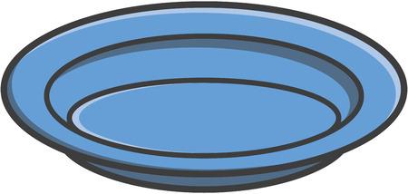 Plate vector cartoon illustration
