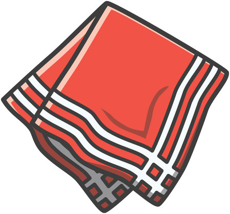 towel: Napkin vector cartoon illustration
