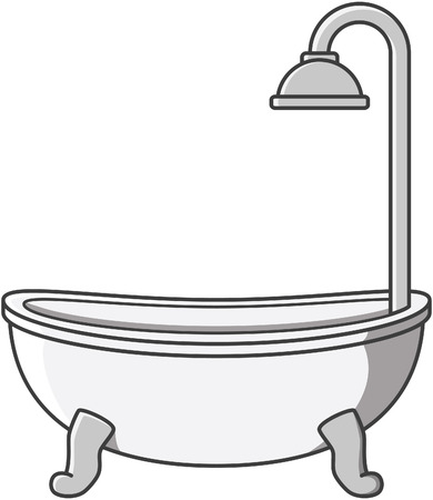 baths: Bathtub vector cartoon illustration