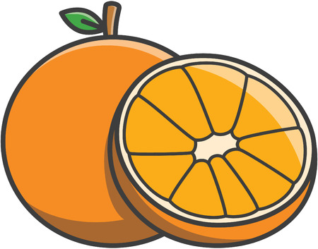 wet leaf: Orange