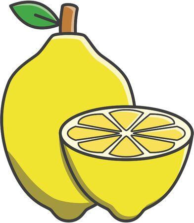 limon caricatura: Frutos de limón