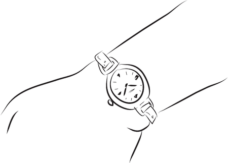 vector art: wristwatch Illustration