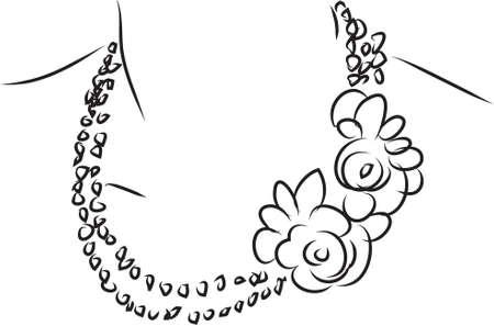ilustration: necklace ilustration