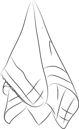 white napkin: handkerchief ilustration
