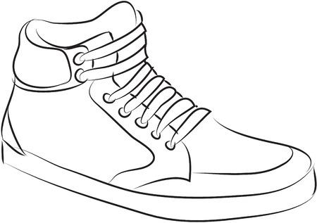 dessin chaussure chaussure ilustration