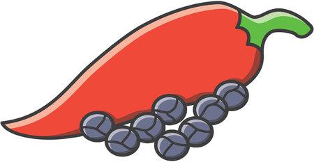 cayenne: Pepper doodle illustration