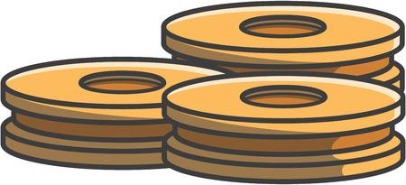 biscuit: Biscuit doodle illustration Illustration