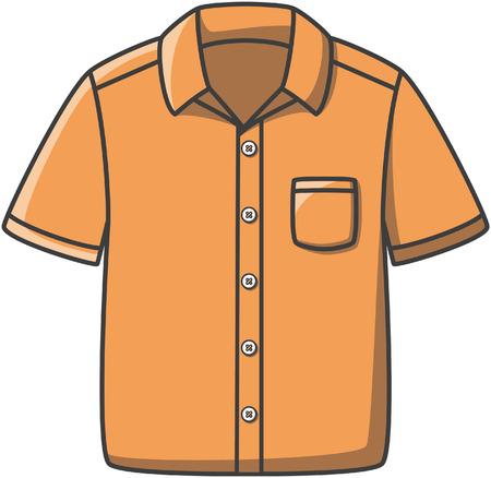 Shirt doodle illustration design Vettoriali
