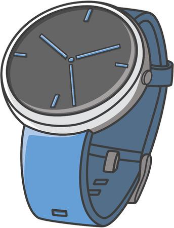 money button: watch doodle illustration design