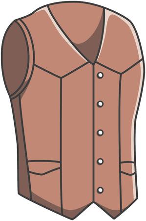 vest: Vest doodle illustration design Illustration