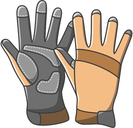 safety equipment: Gloves doodle illustration design