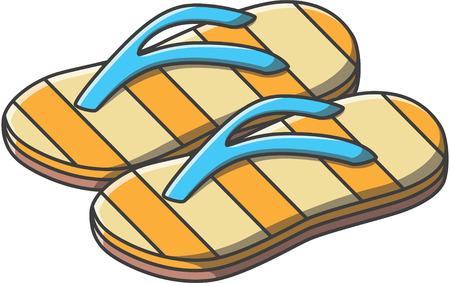 sandal: doodle de la sandalia, ilustraci�n, dise�o