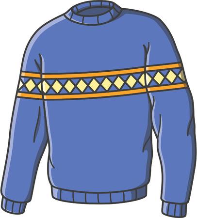 Sweater doodle illustration design