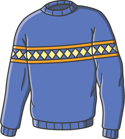 Sweater doodle illustration design