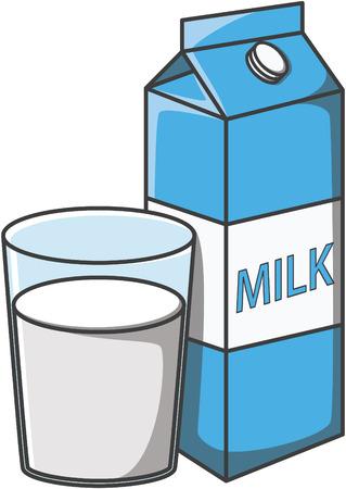 verre de lait: conception lait doodle illustration