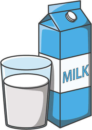 cow milk: Milk doodle illustration design