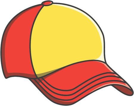 Cap doodle illustration design Vectores