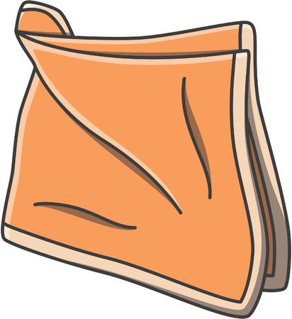 doodle del pañuelo, ilustración, diseño Ilustración de vector