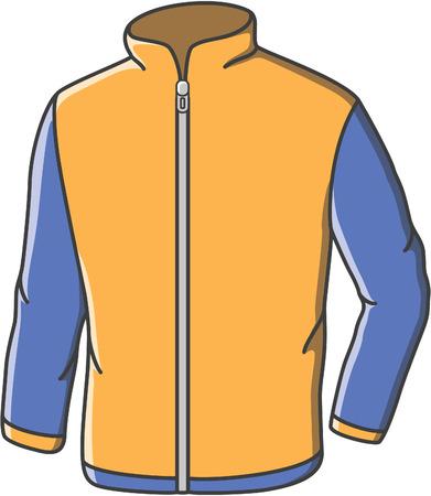 zip hoodie: Casual jacket doodle illustration design