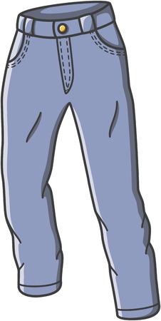 Trouser doodle illustration design