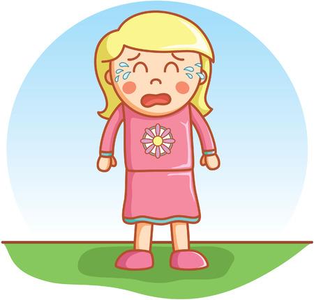 sad lonely girl: Girl crying