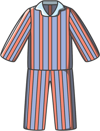 children clothing: Pajamas doodle vector Illustration