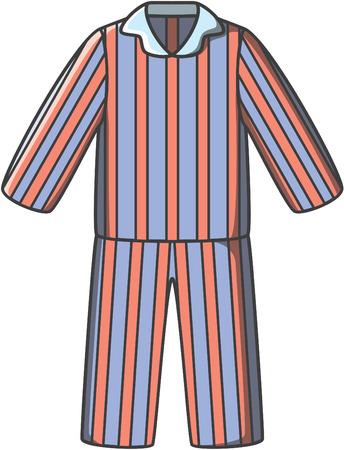 Pyjamas doodle Vektor Vektorgrafik