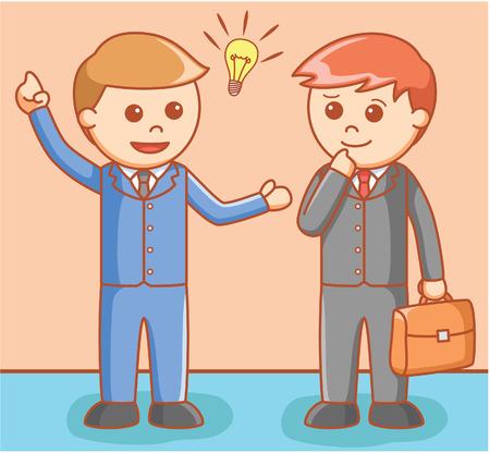 shakes: Business man negotiation Illustration