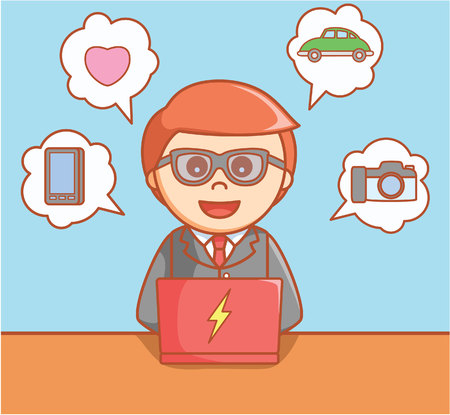 online service: Business man online service