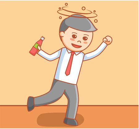 the hangover: Business man drunk