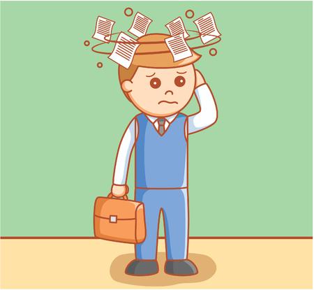 dizziness: Business man dizzy