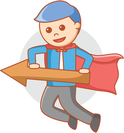man pointing: super hero business man pointing Illustration