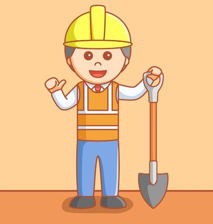 industrial worker: Industrial worker Illustration