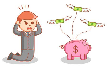 losing money: Businessman losing his money