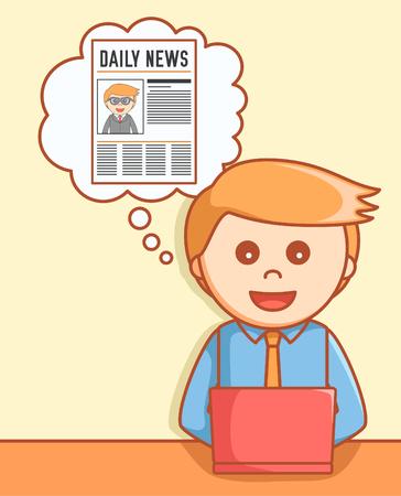 online news: Online news  illustration design