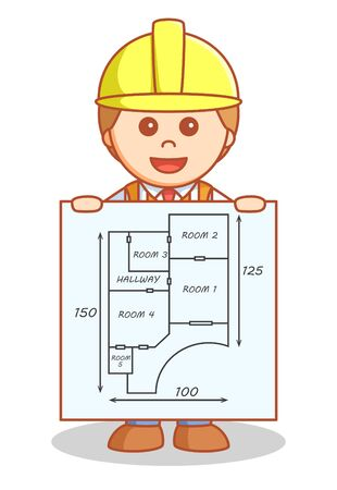 construction projects: Architect showing building plan