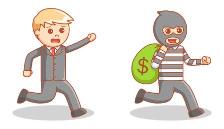 burglary: money bag thief