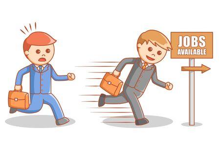 job searching: Job searching race