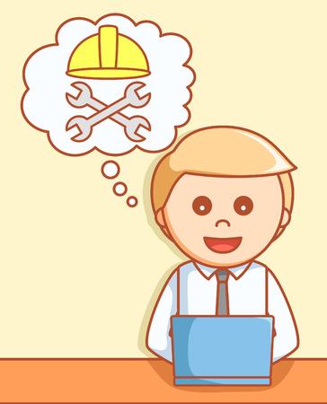 oops: Online maintenance 404  illustration design Illustration