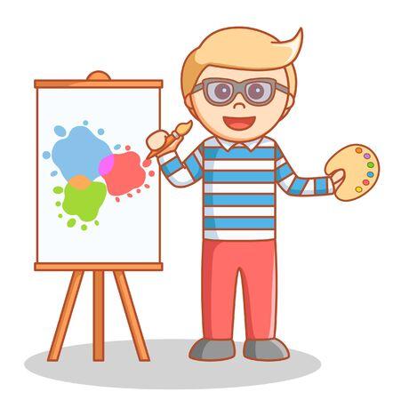 hombre pintando: El hombre ilustraci�n pintura del doodle