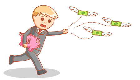 losing money: Business man losing money