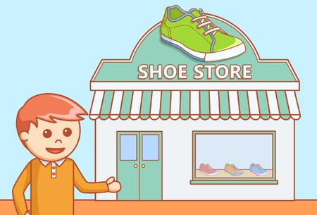 converse: Shoe departement store Illustration