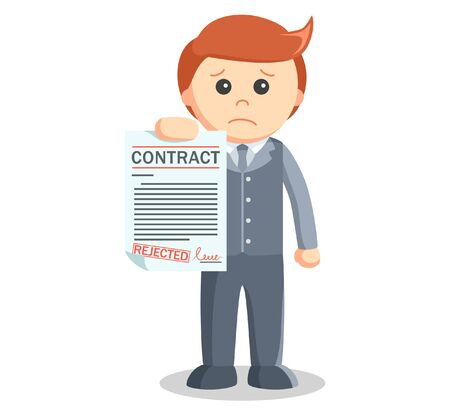 business contract: Business man bad contract