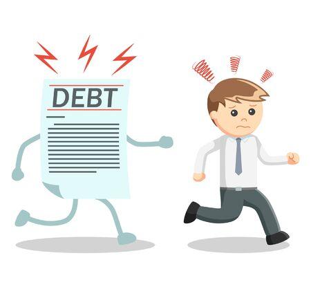 atrapar: El hombre de negocios capturas de la deuda Vectores