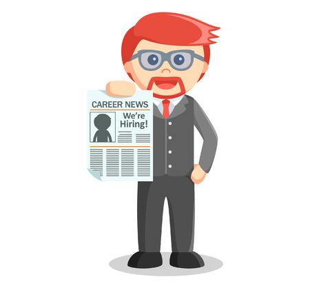 business news: Business man news paper
