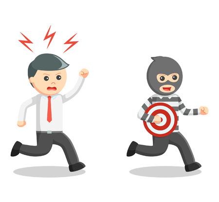 Business man thief target