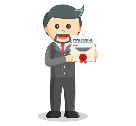send: Business man confidential mail