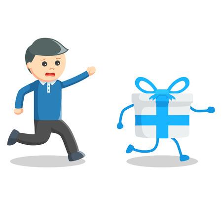 atrapar: hombre de negocios de regalo captura Vectores
